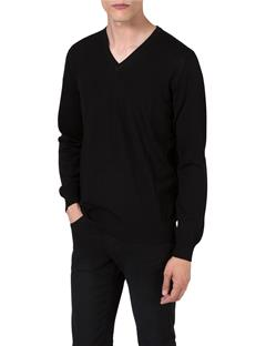 Mens M Bridge V-Neck Fine Merino Sweater Black