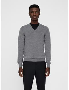 Mens Lymann True Merino Knit Sweater Grey Melange