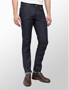 Mens Damien Raw Jeans Dark Blue