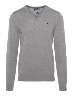 Mens Lymann Tour Merino Sweater Grey Melange