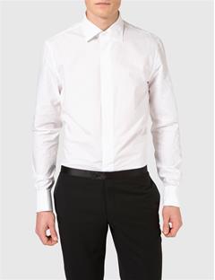 Mens Barto Classic Tux Shirt White