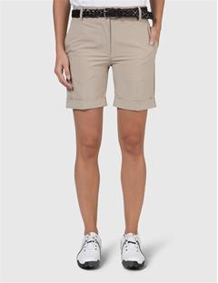 Womens Klara Micro Stretch Shorts Beige