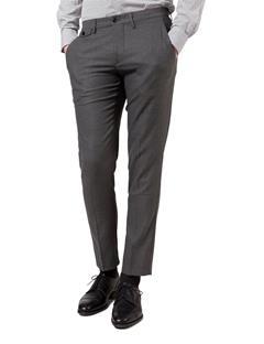Mens Grant 8 Crater Flannel Trouser Mid Grey Melange