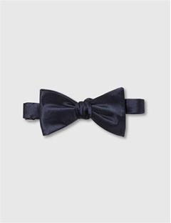 Mens Open Bow-Tie Evening Satin Dk Navy