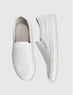 Mens Slip-on Sneaker Combo Leather Off White