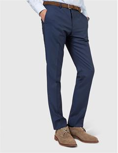 Mens Paulie Dressed Wool Pants Blueberry
