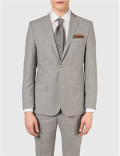 Mens Hopper Dressed Wool Blazer Lt Grey Melange