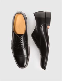 Mens Hopper Italian Calf Cap Toe Oxfords Black