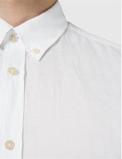 Mens Dani Cotton Linen Shirt White