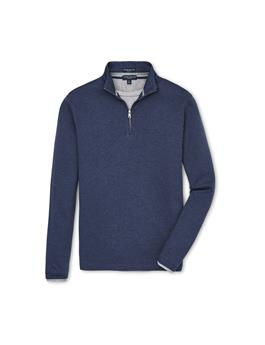 COLLECTION CHARLTON LONG SLEEVE CASHMERE QUARTER ZIP SWEATER