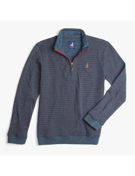 BOYS STRIPED 1/4 ZIP PULLOVER