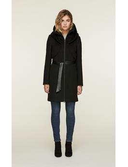 ARYA WOOL COAT WITH DRAMATIC HOOD