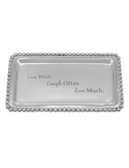 LIVE WELL. LAUGH OFTEN. LOVE MUCH BEADED TRAY