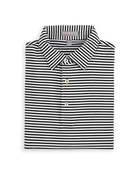 CROWN SPORT COMPETITION STRIPE PERFORMANCE POLO