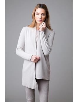 REVERSIBLE LONG SLEEVE CASHMERE CARDIGAN