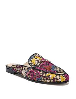 LINNIE FLORAL EMBROIDERED MULE