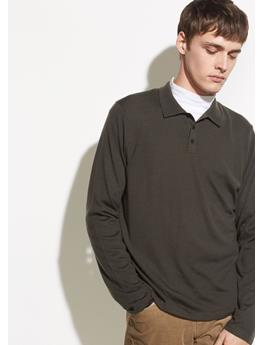 LONG SLEEVE WOOL POLO