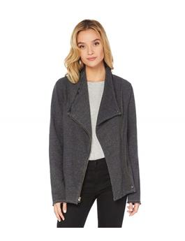 BRUSHED FRENCH TERRY ZIPPERED JACKET
