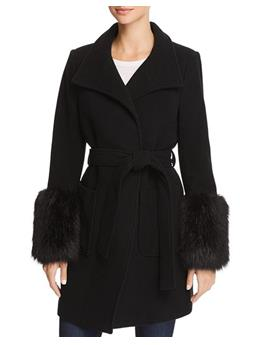 HESPERINA WOOL COAT WITH FAUX FUR