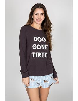 PEACHY GRAPHIC LONG SLEEVE - DOG GONE TIRED
