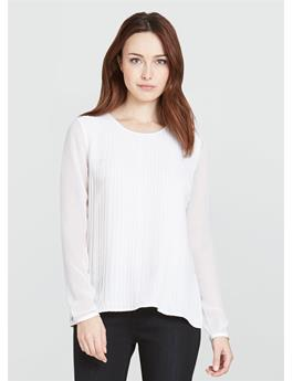 THE MINERVA PLEAT FRONT BLOUSE