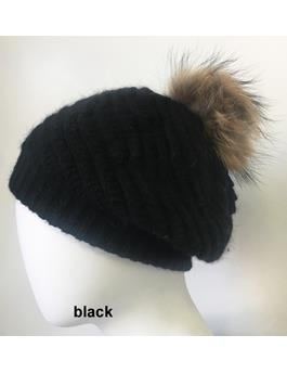 SLOUCH HAT WITH POM POM