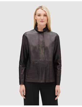GLAZED WEIGHTLESS LAMBSKIN RAYEN JACKET