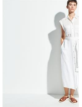 WOMENS ROLLED SLEEVE SHIRT DRESS