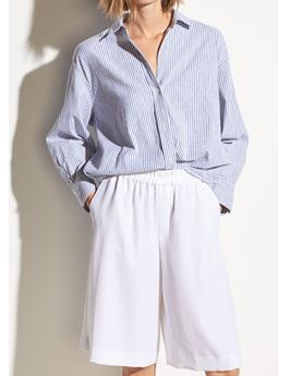 WOMENS OVERSIZED SPACE DYE STRIPE SHIRT