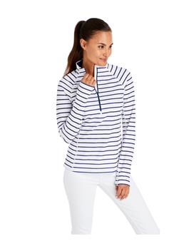 WOMENS STRIPED 1/2 ZIP
