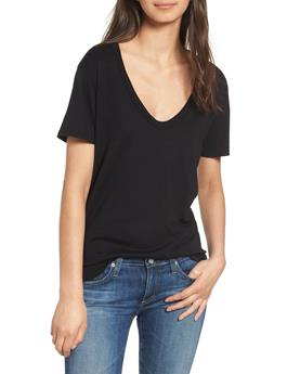 WOMENS HENSON V NECK COTTON TEE