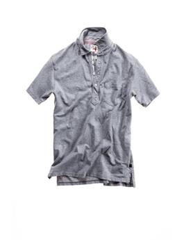 SOLID PIQUE SLOT BUTTON POLO