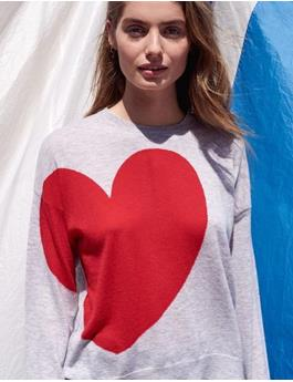 HEART AND STAR CREW NECK