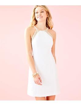 PEARL STRETCH SHIFT DRESS