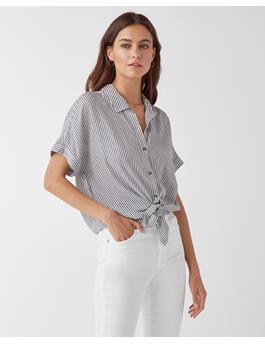 Canyon Short Sleeve Stripe Button Up Shirt