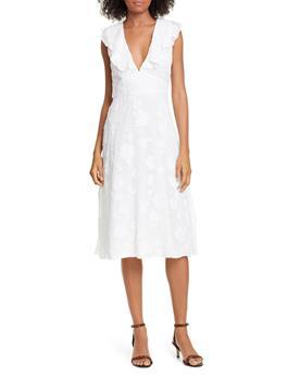 ADELLA FLORAL RUFFLED DRESS