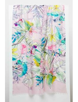 TINTED FLORAL PRINT SCARF