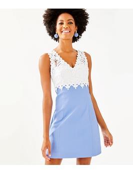 WOMENS SANDI STRETCH SHIFT DRESS