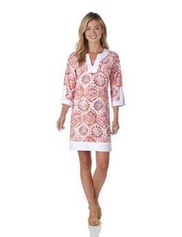 Holly Dress  Jude Cloth - Mosaic Tile