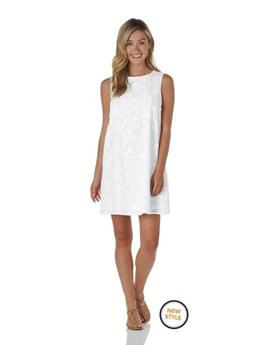 Melody Dress  Embroidery - White