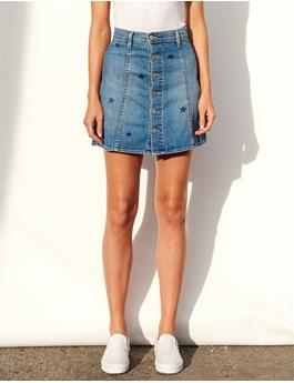 STARS DENIM A LINE SKIRT