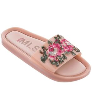 BEACH SLIDE FLOWER Pink Green