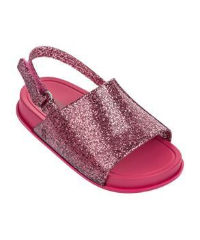 MINI BEACH SLIDE SANDAL Pink Glitter