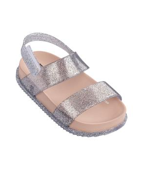MINI COSMIC SANDAL Pink Silver Sparkle