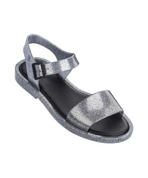 MAR SANDAL Silver Gltr Black