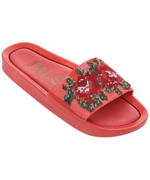 BEACH SLIDE FLOWER Red Warm