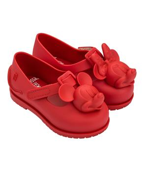 MINI CLASSIC BABY + MICKEY AND FRIENDS Red Flocked