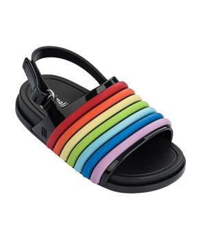 MINI BEACH SLIDE SANDAL RAINBOW Black Colorful