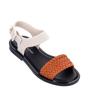 MAR SANDAL + SALINAS Wht/orange/blk