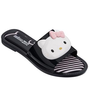 MELISSA SLIPPER + HELLO KITTY AD Blk Wht